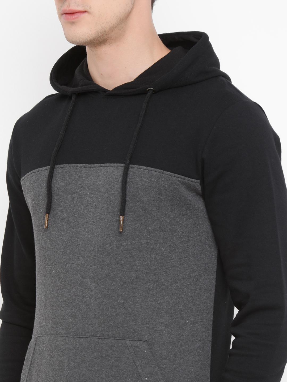 640210f0d39 Buy Hoodies Online India - Black   Grey Full Sleeves Men s Hoodie